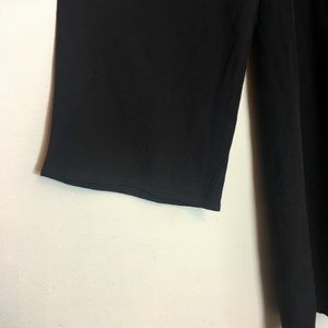 ASTR The Label Dresses - ASTR Black SM Lace Up Bell Sleeve Shift Dress NWT